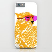 Cheetah with sunglasses on iPhone 6 Slim Case