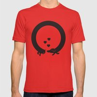 Butt Friends Mens Fitted Tee Red SMALL