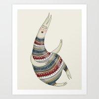 Pattern Monster Illustration Art Print