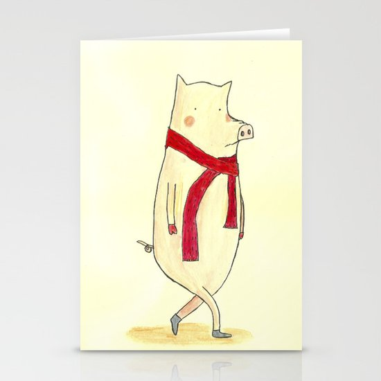 Mr. Red Stationery Card