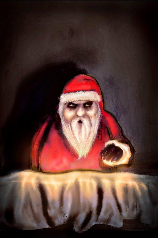Black Xmas: Santa Claus is Here Art Print