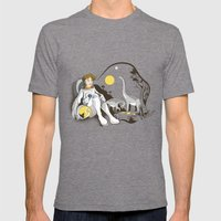 The Time Traveler Mens Fitted Tee Tri-Grey SMALL