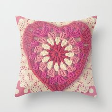 Crochet Valentine Throw Pillow