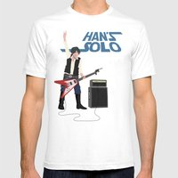 Han's Solo Mens Fitted Tee White SMALL