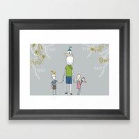 Daddy's Home. Framed Art Print