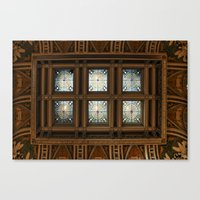 Stained glass on the ceiling Canvas Print