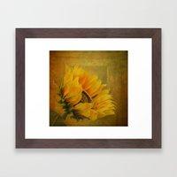 Sunflower Magic Framed Art Print