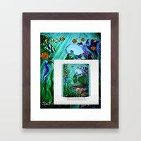 Mermaid Shower Curtain Available NOW! Framed Art Print