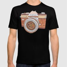 Wood Canon SMALL Mens Fitted Tee Black