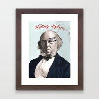 VINTAGE MODERN Framed Art Print