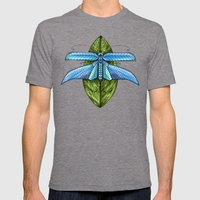 Dragonfly to Your Dreams Mens Fitted Tee Tri-Grey SMALL