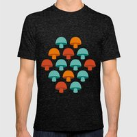 Don't eat the mushrooms! Mens Fitted Tee Tri-Black SMALL