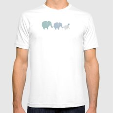 Family SMALL Mens Fitted Tee White