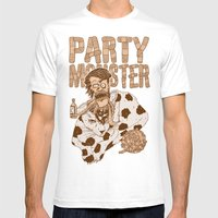 Party Monster Mens Fitted Tee White SMALL