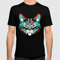 Cubist Cat Mens Fitted Tee Black SMALL