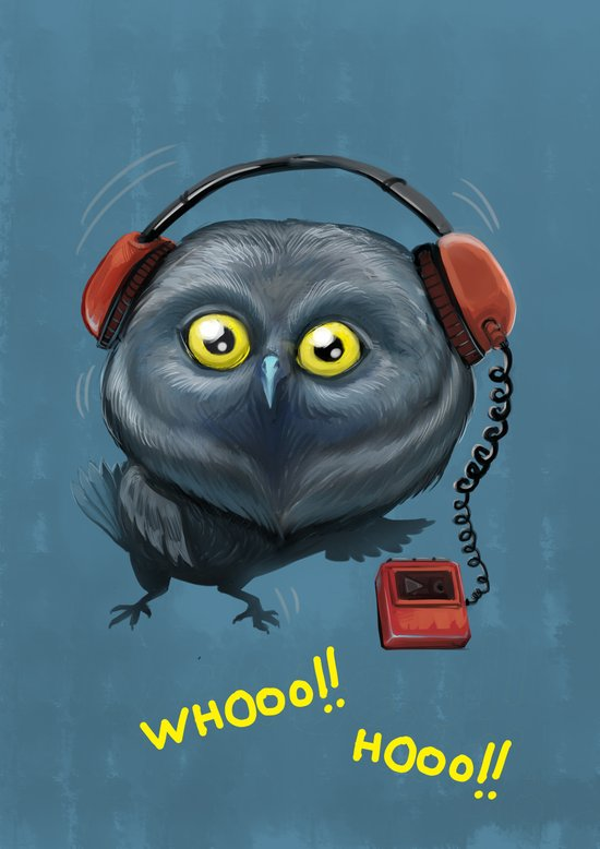 Hooting lesson Art Print