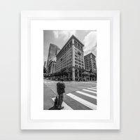 Alone In LA Framed Art Print