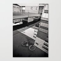 Bicycle under Glass Canvas Print