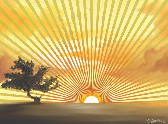 Marylin Sunset Canvas Print