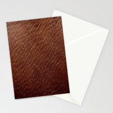 Leather Texture (Dark Brown) Stationery Cards