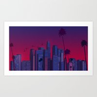 Los Angeles, Live! Art Print