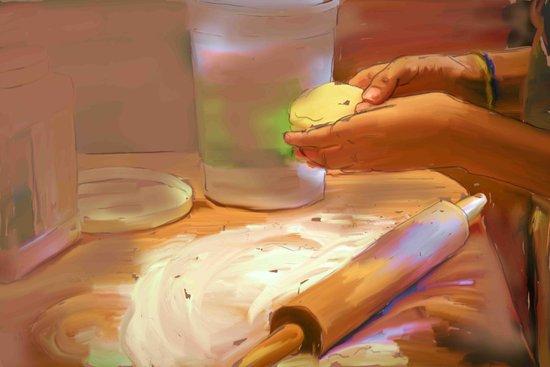 Baking Art Print