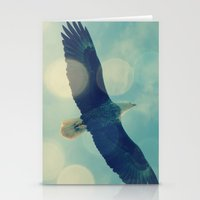 Bald Eagle Overhead Stationery Cards