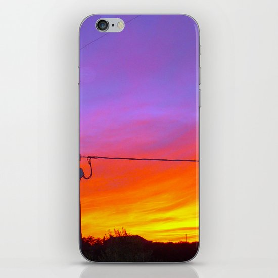 Sunset from my house iPhone & iPod Skin