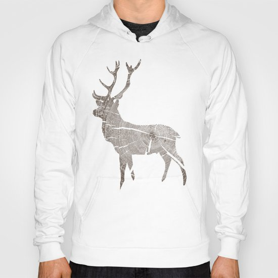 Wood Grain Stag Hoody