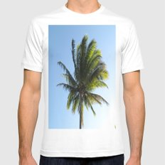 Palm SMALL White Mens Fitted Tee