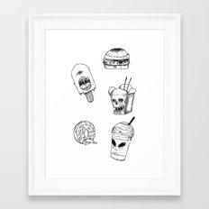 Monster Food Framed Art Print