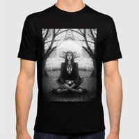 Meditate 2 Mens Fitted Tee Black SMALL