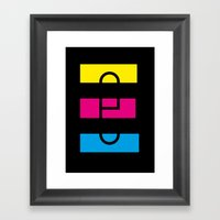 E like E Framed Art Print