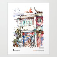 "Paul Wang, ""Armenian Street, Penang"" Art Print"