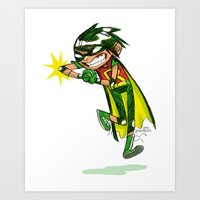 Robin, The Boy Wonder Sk… Art Print