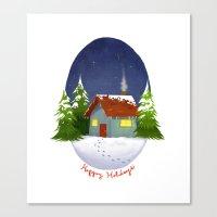 Happy Holidays 2012 Canvas Print