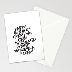 Divide Us Stationery Cards