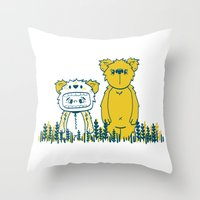 Bears Throw Pillow