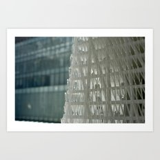 World Trade Center Competition Architectural Model Detail Art Print