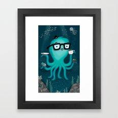 Nerdtopus Framed Art Print