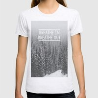 Breathe In - Breathe Out Womens Fitted Tee Ash Grey SMALL