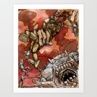 Wrestling The Clawless … Art Print