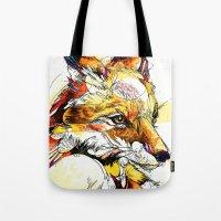 Fox Flow Tote Bag