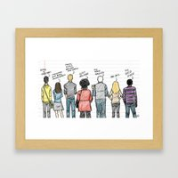 COMMUNITY Framed Art Print