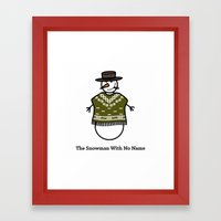 The Snowman With No Name Framed Art Print