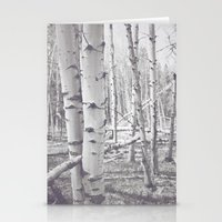 Black and White Aspens Stationery Cards