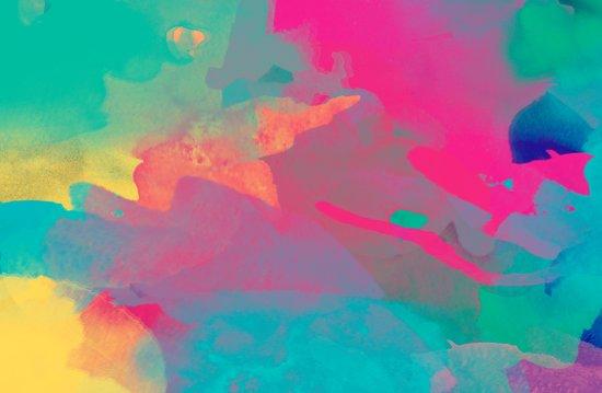 The colors mix Art Print