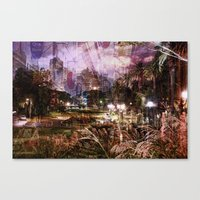 Double Exposure Art Canvas Print