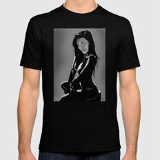 Catwoman Black SMALL Mens Fitted Tee