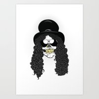 Skulls Of Rock: Slash Art Print